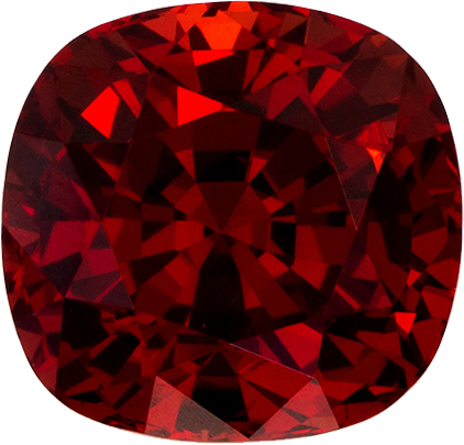 Burma Origin Vibrant Red Spinel Natural Gemstone in Antique Square Cut, 7.0 x 6.7 mm, 2.06 Carats - With CD Certificate