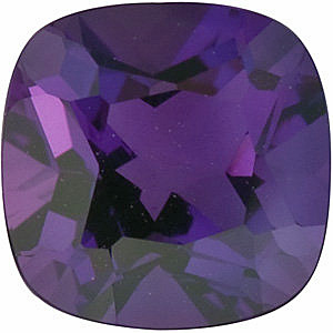 Faceted   Amethyst Gemstone, Antique Square Shape, Grade AAA, 5.00 mm Size, 0.5 carats