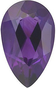 Loose  Amethyst Stone, Pear Shape, Grade AAA, 12.00 x 8.00 mm Size, 2.7 carats