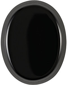 Loose Genuine Gem  Black Onyx Gemstone, Oval Shape Buff Top, Grade AA, 11.00 x 9.00 mm in Size
