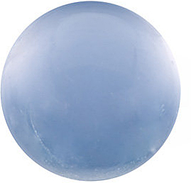 Genuine  Blue Chalcedony Stone, Round Shape Cabochon, Grade AAA, 10.00 mm in Size, 4.43 carats
