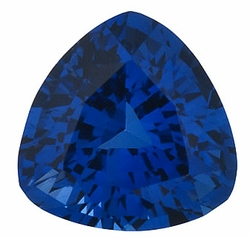 Loose  Blue Sapphire Gem Stone, Trillion Shape, Grade AA, 6.50 mm in Size, 1.2 Carats