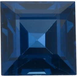 Faceted   Blue Sapphire Stone, Square Step Shape, Grade AAA, 4.00 mm in Size, 0.48 Carats