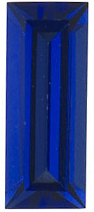 Chatham Created Blue Sapphire Gemstone, Baguette Shape, Grade GEM, 5.00 x 2.00 mm in Size, 0.2 Carats