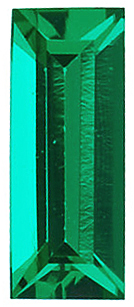 Chatham Created Emerald Stone, Baguette Shape, Grade GEM, 5.00 x 2.00 mm in Size, 0.12 Carats