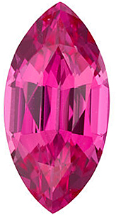 Chatham Created Pink Sapphire Gemstone, Marquise Shape, Grade GEM, 6.00 x 3.00 mm in Size, 0.3 Carats