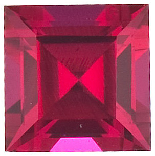 Chatham Created Ruby Gemstone, Step Shape, Grade GEM, 3.00 mm in Size, 0.2 Carats