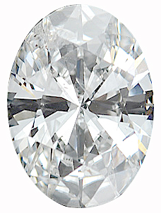 Faceted Diamond Melee, Oval Shape, G-H Color - SI2/SI3 Clarity, 6.00 x 4.00 mm in Size, 0.5 Carats