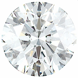 Loose Faceted  Diamond Melee Parcel, 71 Pieces, 2.53 - 2.73 mm Size Range, SI2/3 Clarity - G-H Color, 5 Carat Total Weight