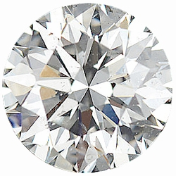 Faceted Loose  Diamond Melee Parcel, 80 Pieces, 2.44 - 2.50 mm Size Range, SI2/3 Clarity - I-J Color, 5 Carat Total Weight