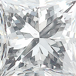 Faceted   Diamond Melee, Princess Shape Grooved, G-H Color - SI1 Clarity, 3.25 mm in Size, 0.2 Carats