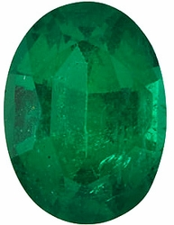 Loose Faceted  Emerald Gemstone, Oval Shape, Grade AAA, 6.00 x 4.00 mm in Size, 0.48 Carats
