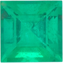 Faceted   Emerald Gem, Step Shape, Grade A, 4.25 mm in Size, 0.42 Carats