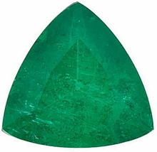 Loose Natural  Emerald Gemstone, Trillion Shape, Grade A, 3.50 mm in Size, 0.15 Carats