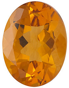 Loose Genuine  Golden Citrine Gem, Oval Shape, Grade A, 9.00 x 7.00 mm in Size, 1.7 carats