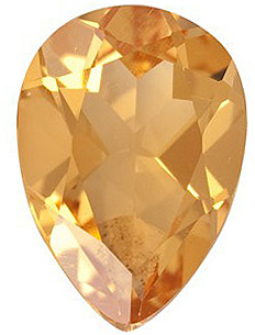 Loose Natural  Golden Citrine Gemstone, Pear Shape, Grade A, 7.00 x 5.00 mm in Size, 0.63 carats