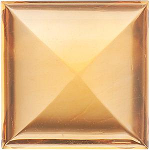 Loose Faceted  Golden Citrine Stone, Square Shape Cabochon, Grade A, 10.00 mm in Size, 5.85 carats