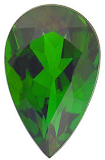 Loose Genuine  Green Tourmaline Gemstone, Pear Shape, Grade AAA, 5.00 x 3.00 mm in Size, 0.21 Carats