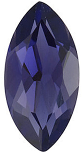 Faceted   Iolite Stone, Marquise Shape, Grade AAA, 5.00 x 2.50 mm in Size, 0.13 carats
