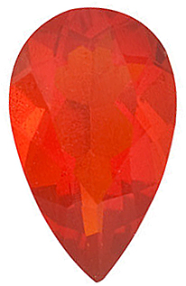 Natural  Mexican Fire Opal Gemstone, Pear Shape, Grade AAA, 7.00 x 5.00 mm in Size, 0.42 carats