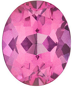 Faceted   Mystic Pink Topaz Gemstone, Oval Shape, Grade AAA, 6.00 x 4.00 mm in Size, 0.6 Carats