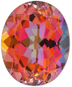 Gemstone Loose  Mystic Sunrise Topaz Stone, Oval Shape, Grade AAA, 10.00 x 8.00 mm in Size, 3.65 Carats