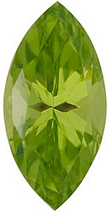Gemstone Loose  Peridot Stone, Marquise Shape, Enlightened Apple, Grade GEM, 6.00 x 3.00 mm in Size, 0.24 Carats