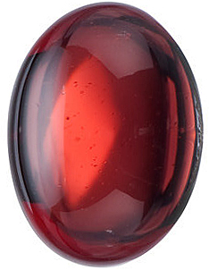 Loose  Red Garnet Gem, Oval Shape Cabochon, Grade AAA, 5.00 x 3.00 mm in Size, 0.37 carats