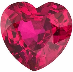 Shop Ruby Stone, Heart Shape, Grade A, 3.50 mm in Size, 0.22 Carats