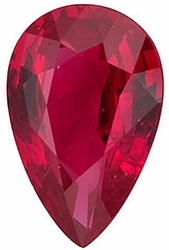 Gemstone  Ruby Stone, Pear Shape, Grade A, 4.00 x 3.00 mm in Size, 0.2 Carats
