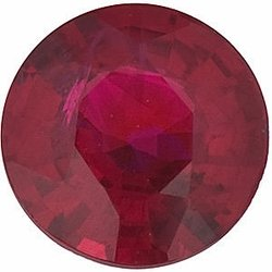 Loose Ruby Gemstone, Round Shape, Grade A, 2.25 mm in Size, 0.06 Carats