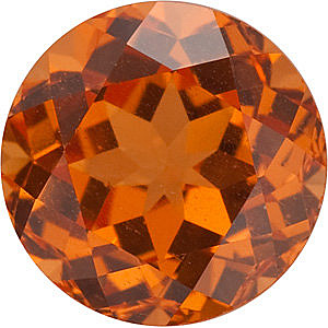 Loose Natural  Spessartite Garnet Gemstone, Round Shape, Grade AAA, 5.00 mm in Size, 0.7 Carats