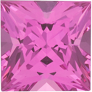 Faceted   Spinel Gemstone, Princess Shape, Grade AAA, 4.50 mm in Size, 0.5 Carats