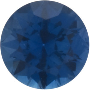 Faceted Loose  Swarovski Cut Blue Sapphire Gem, Round Shape, Grade FINE, 1.75 mm in Size, 0.03 Carats