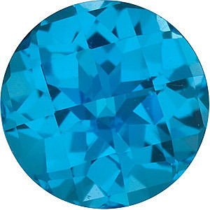 Genuine Loose  Swiss Blue Topaz Stone, Round Shape, Grade AAA, 8.00 mm in Size, 2.5 Carats