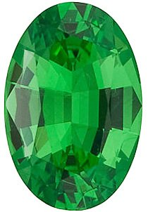 Buy Tsavorite Garnet Gem, Oval Shape, Grade AA, 5.00 x 3.00 mm in Size, 0.28 carats