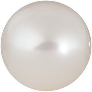 Round Shape Half Drilled White Freshwater Cultured Pearl Grade AAA, 7.00 - 7.50 mm in Size