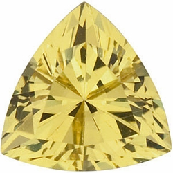 Loose Gem  Yellow Sapphire Gem, Trillion Shape, Grade AA, 3.50 mm in Size, 0.19 Carats