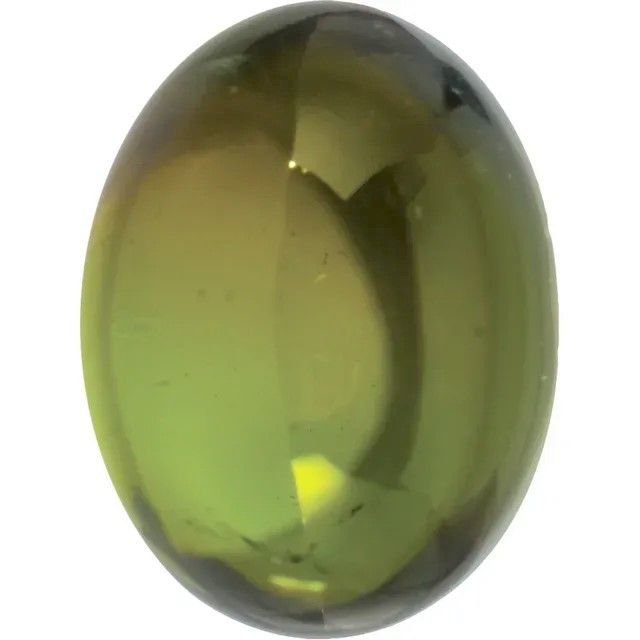 Cabochon Oval Genuine Green Tourmaline in Grade AAA