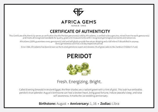 Emerald Cut Genuine Peridot in Grade AAA