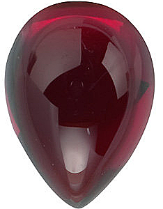 Cabochon Pear Genuine Red Garnet in Grade AAA