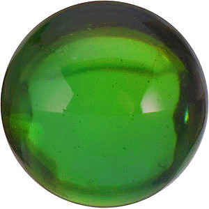 Cabochon Round Genuine Green Tourmaline in Grade AA