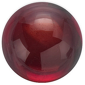 Cabochon Round Genuine Red Garnet in Grade AAA