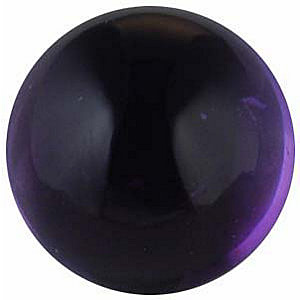 Cabochon Round Shape Genuine Amethyst Loose  Gemstone   Grade AA 0.837 carats,  5.50 mm in Size