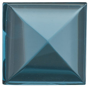 Cabochon Square Genuine London Blue Topaz in Grade AAA