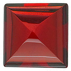 Cabochon Square Genuine Red Garnet in Grade AAA