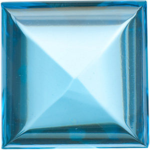 Cabochon Square Genuine Swiss Blue Topaz in Grade AAA