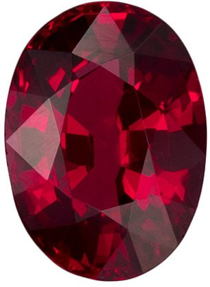 Calibrated 1.04 carats Ruby Gemstone in Vivid Pigeon's Blood Color in 6.9 x 5.1 mm Oval Shape