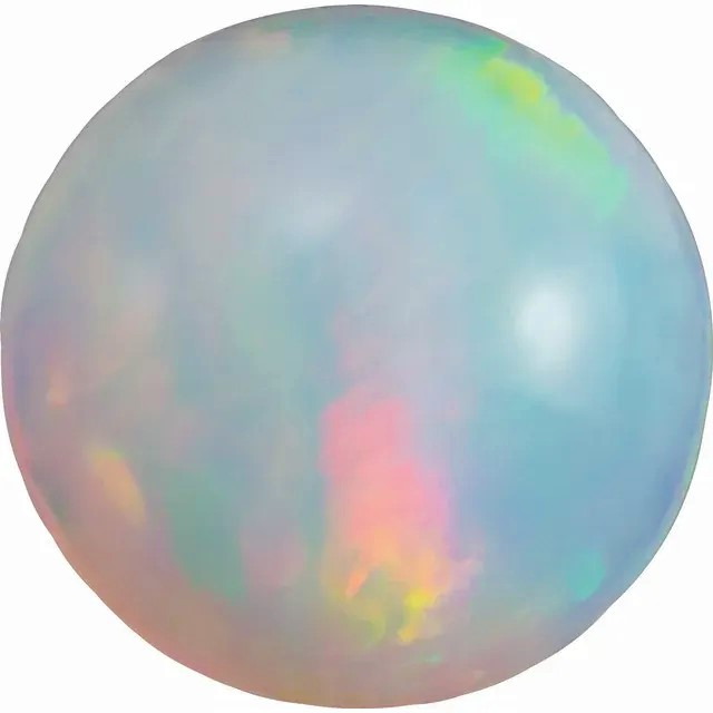 Ethiopian Opal Round Cabochon Cut Grade AAA