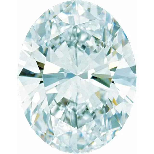 GH Color - SI Clarity Lab Grown Oval Diamonds